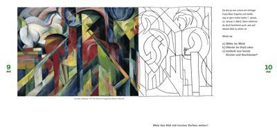 Kunstgeschichte für Kinder, Mitmachbuch, malen, Rätselbuch
