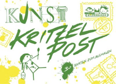 Kritzelbuch, Ausmalbuch, Kunstunterricht, Kunstwerk, Postkarten zum Ausmalen