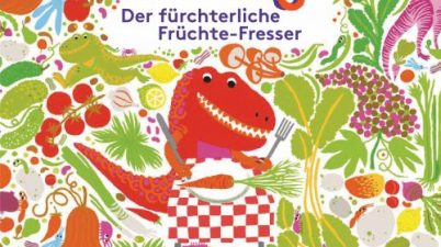 Katherina Manolessou, Smriti Prasadam-Halls: T-Veg – Der fürchterliche Früchte-Fresser (Übersetzung: Kathrin Köller). Prestel Verlag 2017, ab drei Jahren, 12,99 €.