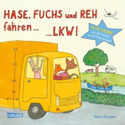 Dunja Schnabel, Reime, Pappbilderbuch, Bilderbuch, Tiere, Fahrzeuge