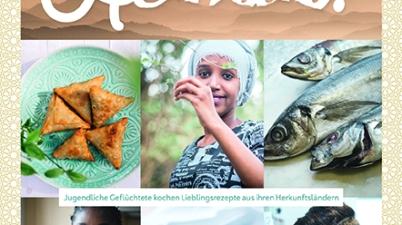 Kochbuch, orientalische Küche, asiatische Küche, arabische Gerichte, kochen, junge Leute, unbegleitete Flüchtlinge, Projekt, Sozialarbeit