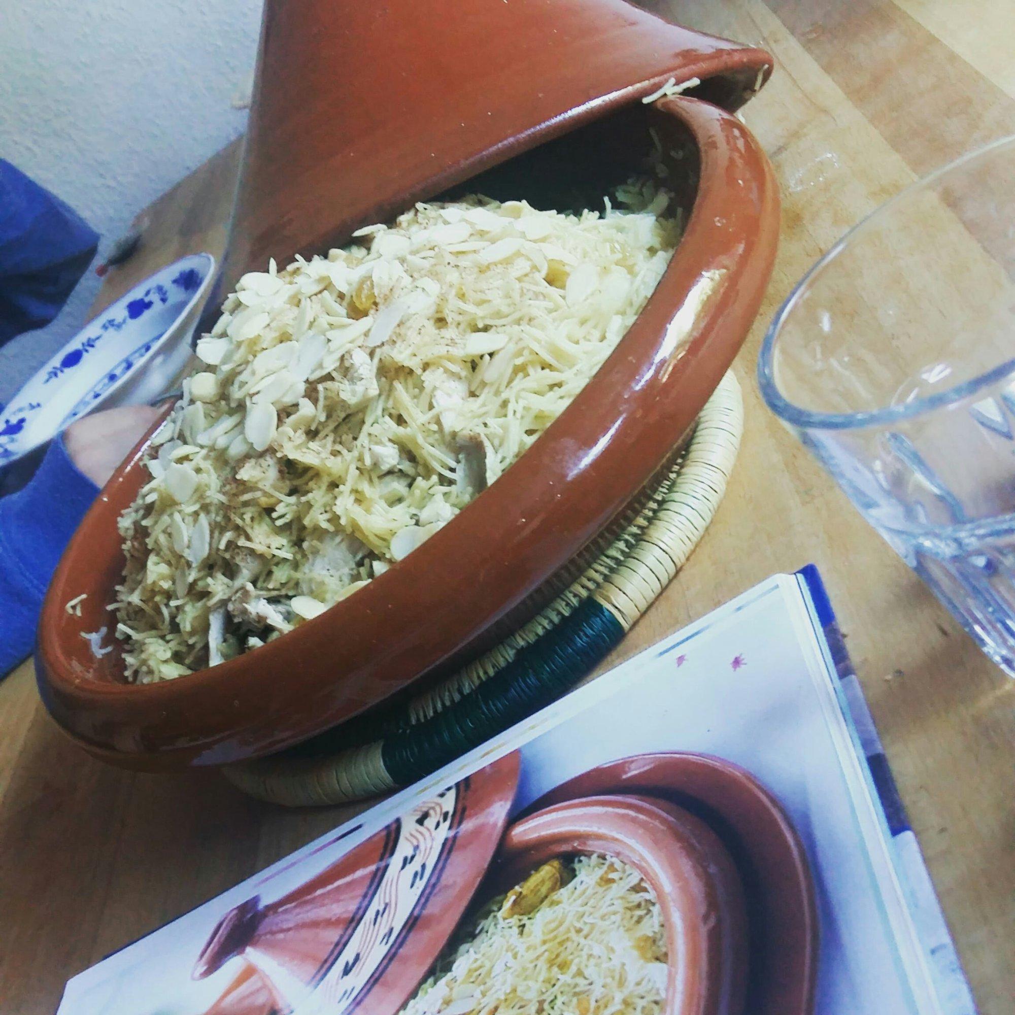 Marokko, Marokkanisch, kochen, Rezepte, Kochbuch, EMF, Marrakesch, orientalisch, Hähnchen, Huhn,