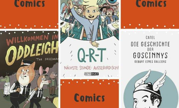 Q-R-T, Willkommen in Oddleigh, Die Geschichte der Goscinnys, Kindercomics, Comic, selber lesen, Kinder, Familie, Tipps