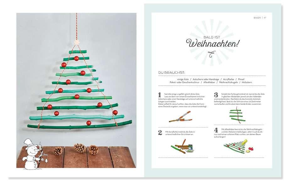 Weihnachtsbaum basteln, Holz, bauen, Advent, Weihnachtszeit, Advent, Familie, DIY
