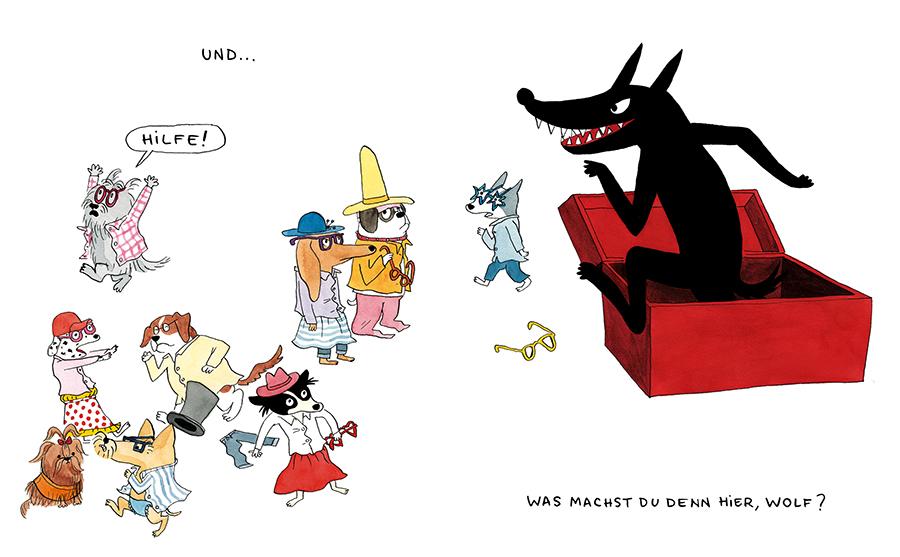 Dorothee de Monfreid, Pappbilderbuch, zählen lernen, Zahlen, Hunde, Hundebande, Familie, Kleinkinder